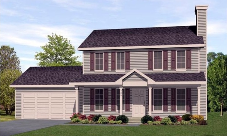 Colonial house plan 2 to be built homes bouffard for What is two story house